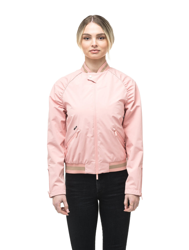 Women's classic bomber jacket called Phoebe in Shell Pink| color
