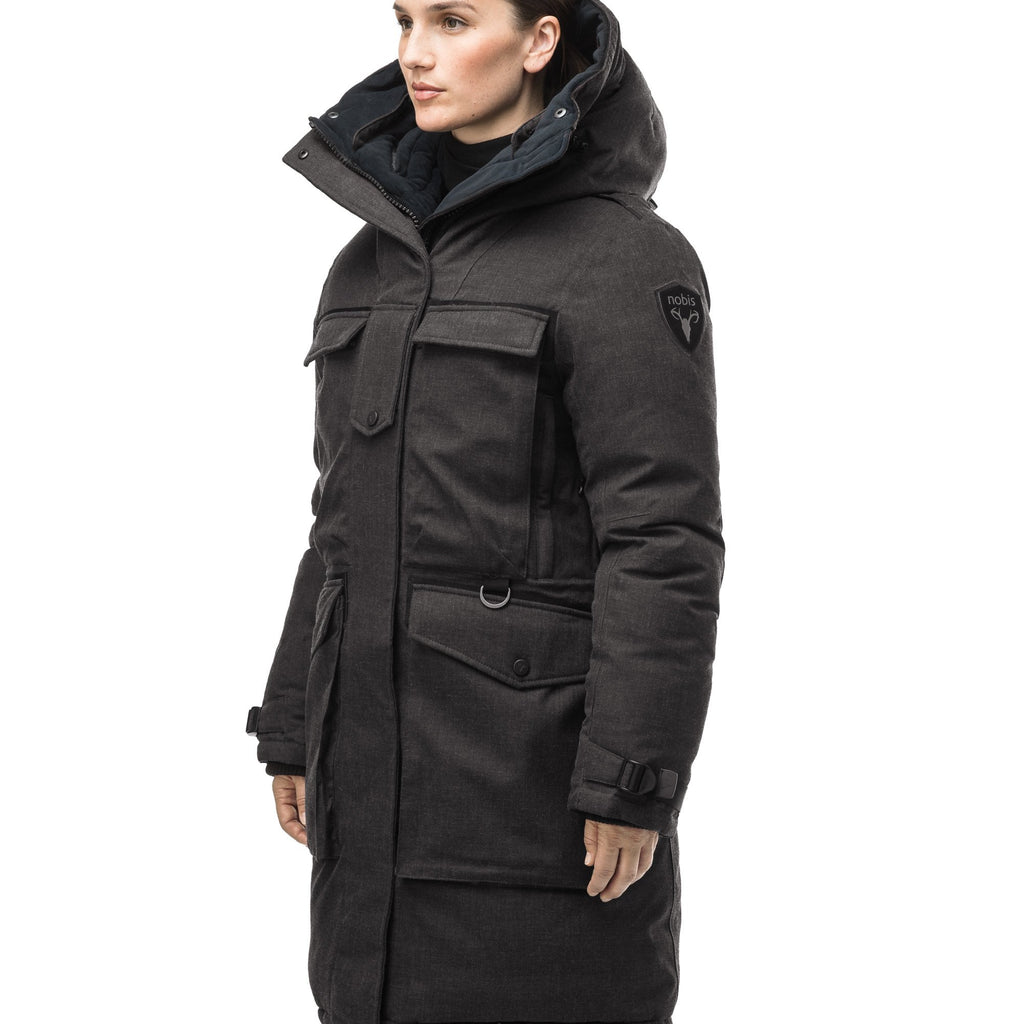 Women's extreme parka with our highest down filling and a removable down filled hood in H. Black | color