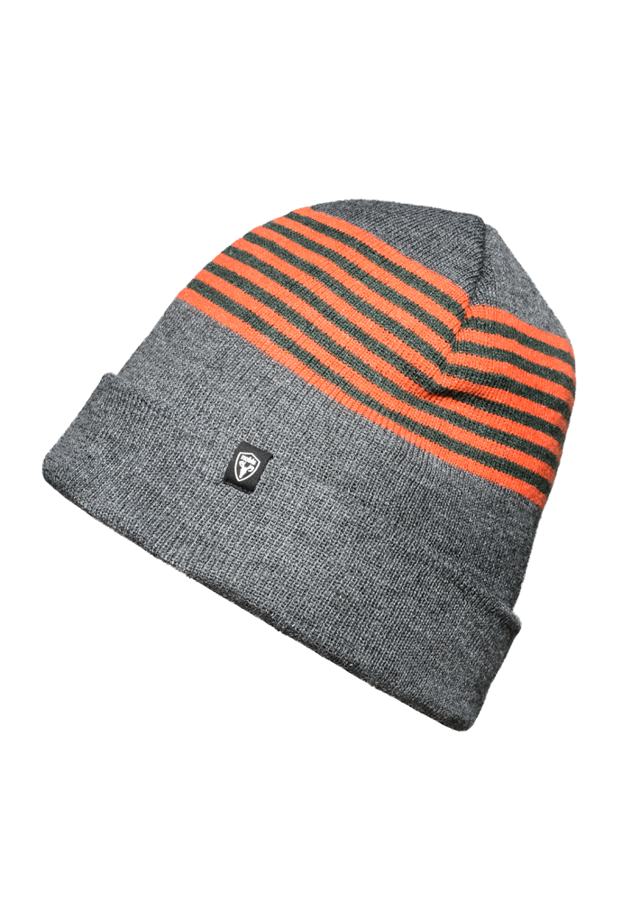 Striped Toque in H. Charcoal | color