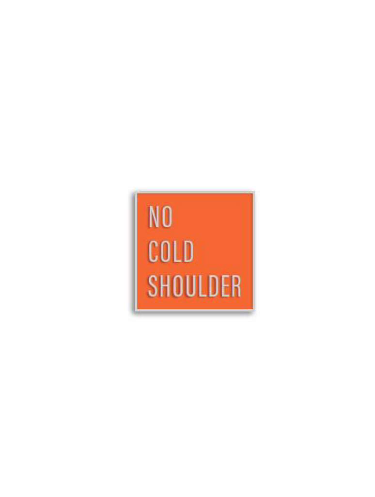 No Cold Shoulder Atomic Square Pin| color