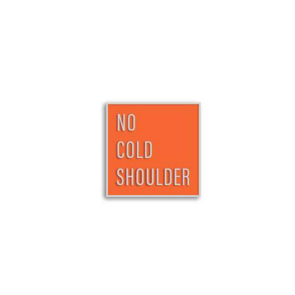 No Cold Shoulder Atomic Square Pin | color