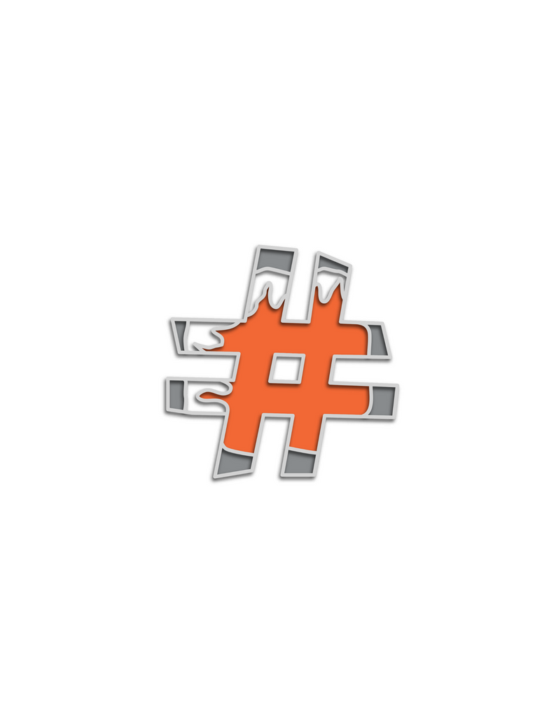 No Cold Shoulder Atomic Hashtag Pin| color