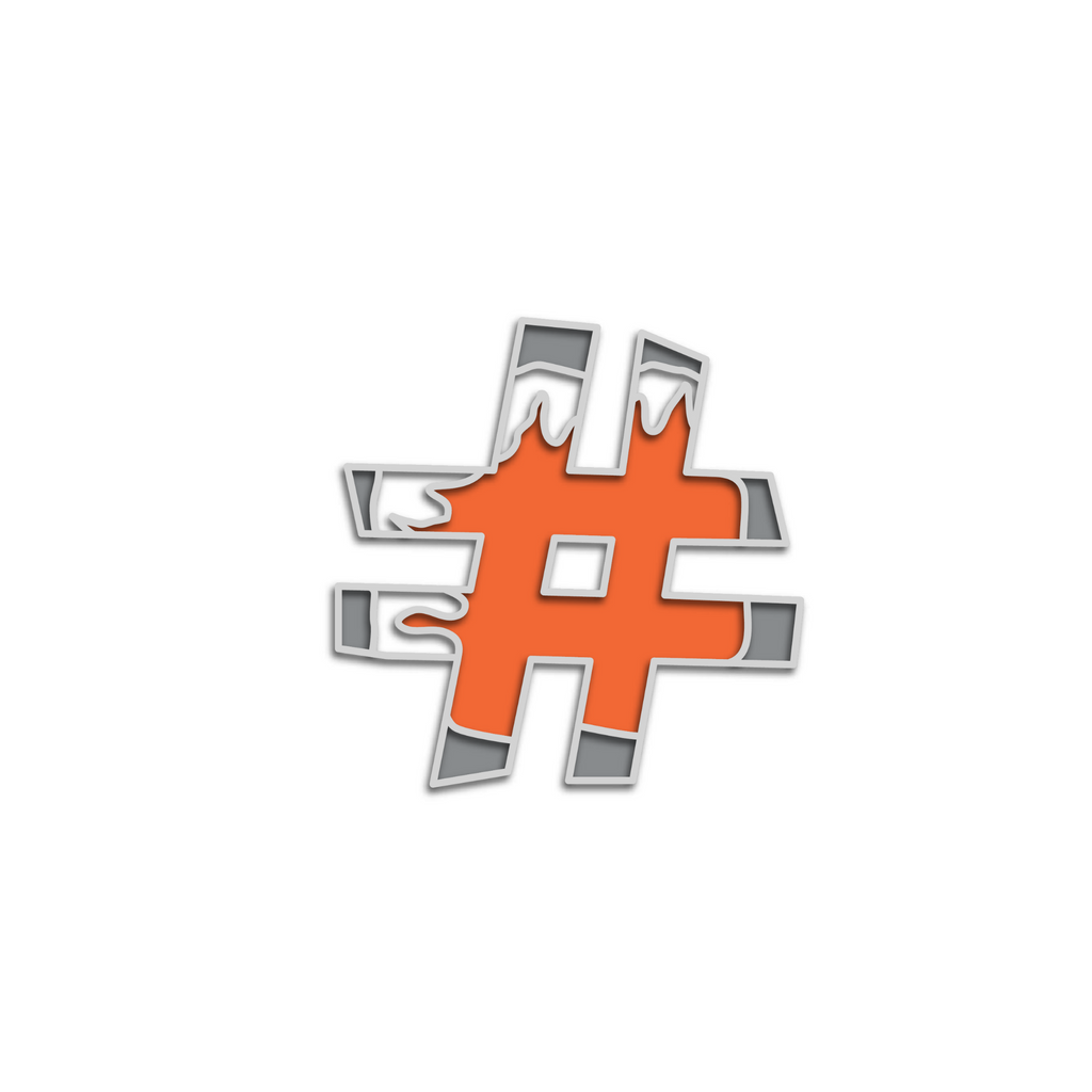No Cold Shoulder Atomic Hashtag Pin | color