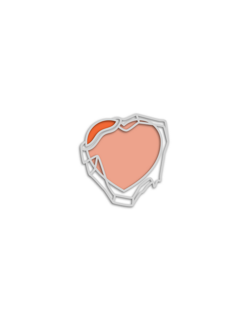 No Cold Shoulder Atomic Frozen Heart Pin| color