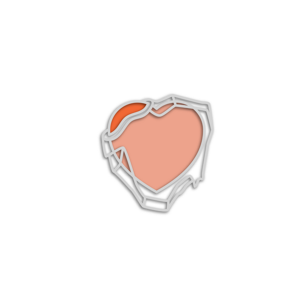 No Cold Shoulder Atomic Frozen Heart Pin | color