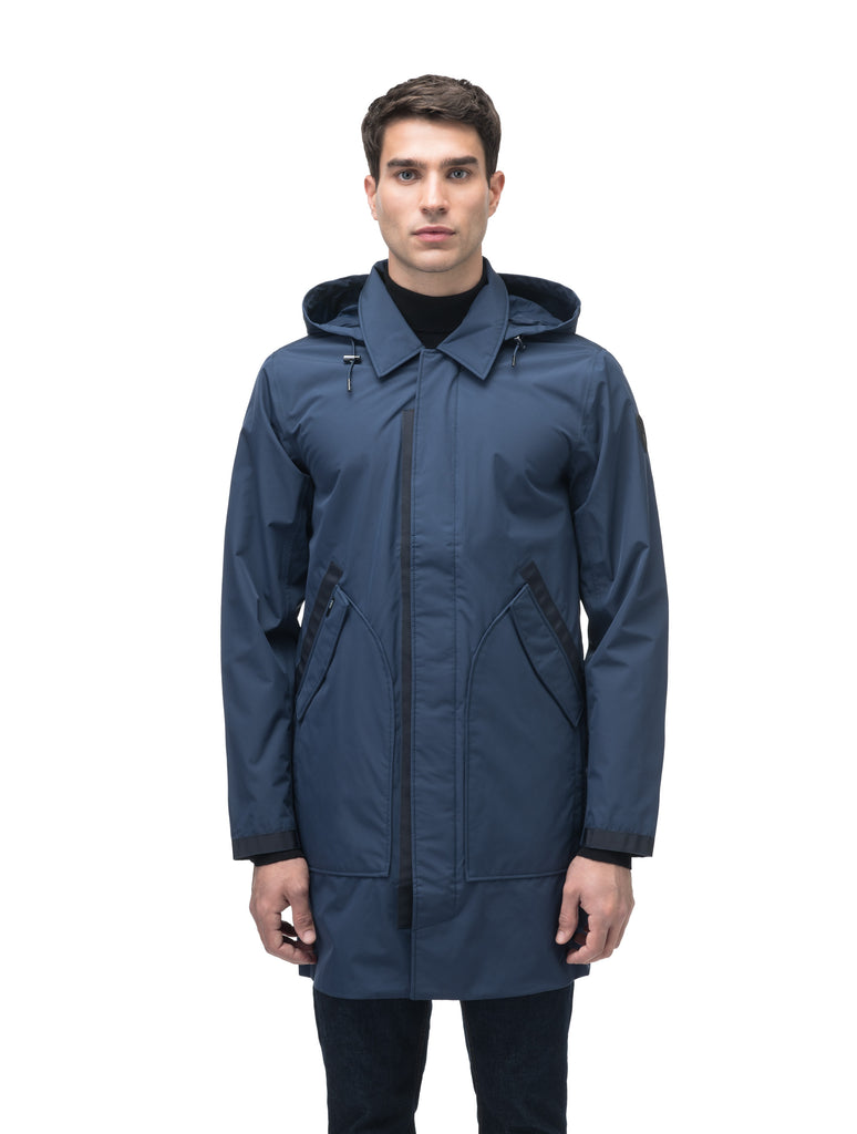 Men's knee length car coat in Marine| color