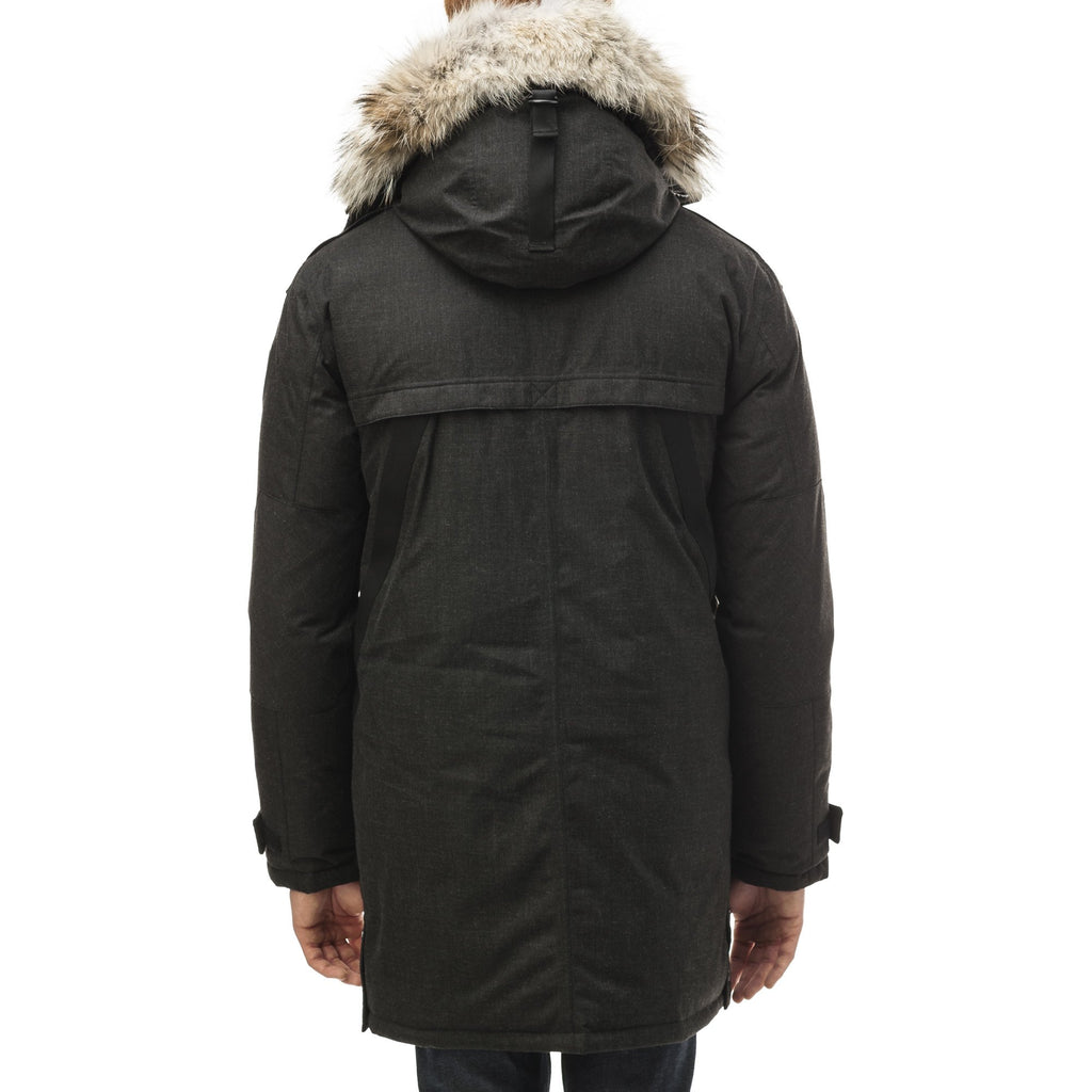 Men's Best Selling Parka the Yatesy is a down filled jacket with a zipper closure and magnetic placket in H. Black | color