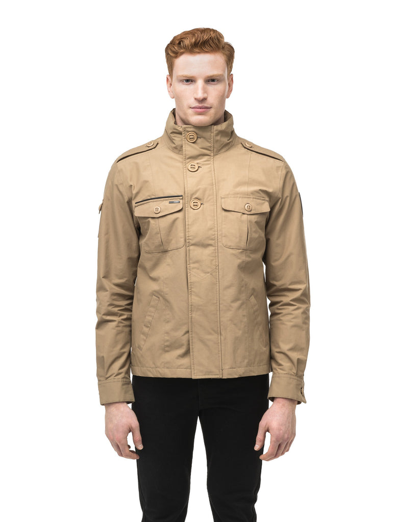 Men's waist length miltary style shirt jacket in Cork| color