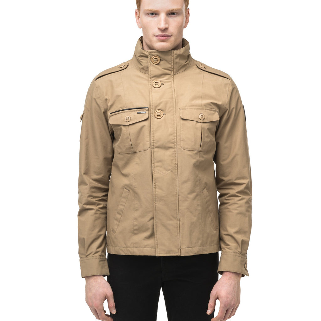 Men's waist length miltary style shirt jacket in Cork | color