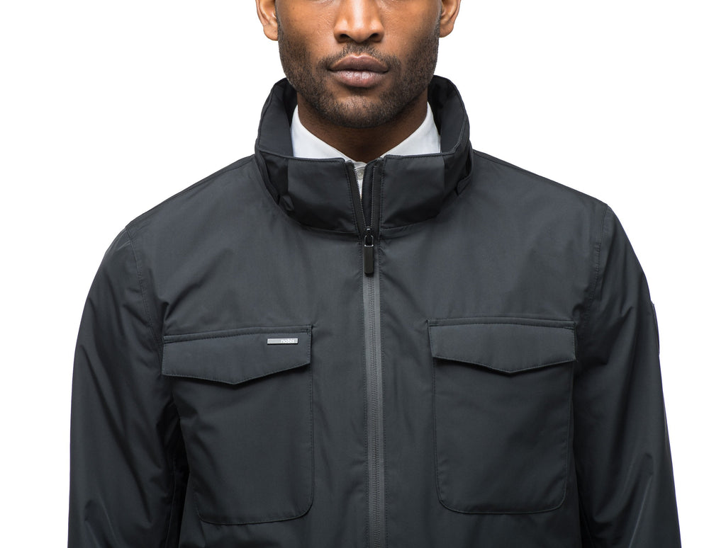 Men's waist length jacket in Black| color