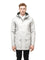 Men's hooded rain coat with hood in Light Grey | color