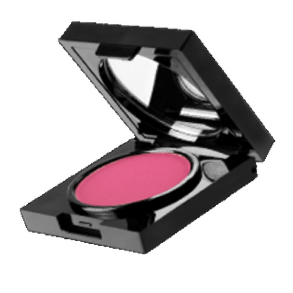 Train Wreck Cosmetics Blusher cool pinks, mauves & reds.  Clean Sharp black packaging.