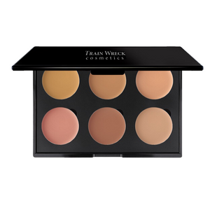 Train Wreck Cosmetics Revolutionary Corrector Palette 6 Well for medium and olive skin tones