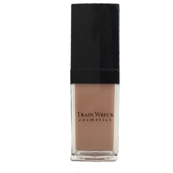 Train Wreck Cosmetics Makeup :  Water based liquid foundation, light to medium coverage.