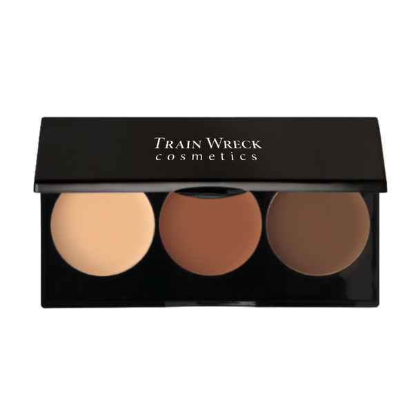 Train Wreck Cosmetics Revolutionary Contour Makeup Palette Trio