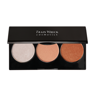 Train Wreck Cosmetics Revolutionary Face HIlite Trio for medium to dark skin