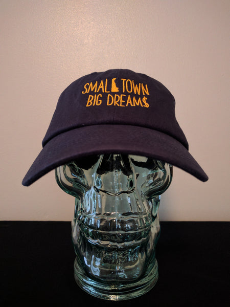 Small Town Big Dream$ dad hat (Navy)
