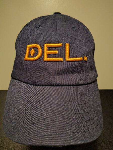 DEL.™ Low Profile Hat (Navy w/ Gold)