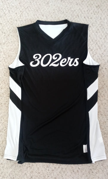 302ers Basketball Jersey (Black/White)