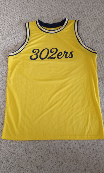 302ers Fab 5 Basketball Jersey (Maize/Blue)