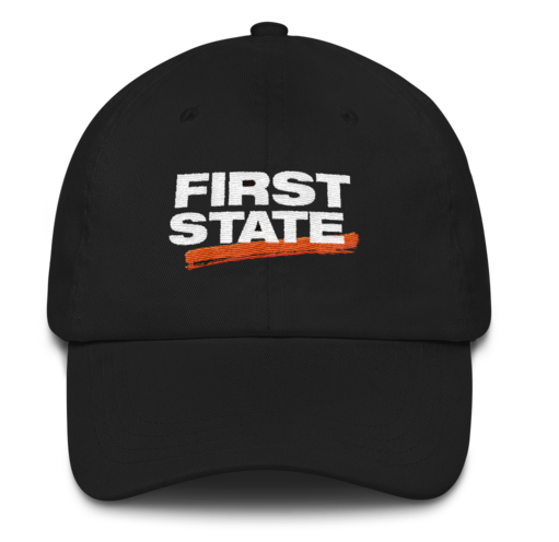 First State Dad Hat (Black)