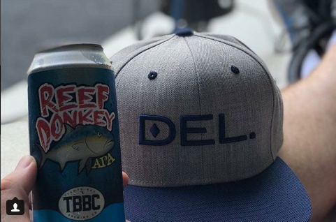 DEL. Wool Blend Snapback (Heather Grey/Royal)