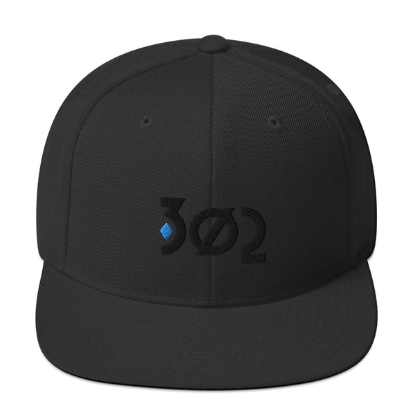 302 Diamond Snapback Hat (Aqua Diamond)