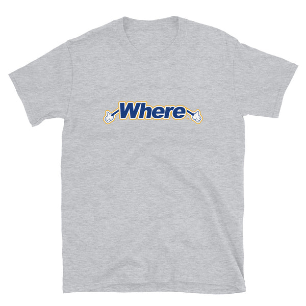 Where? Cartoon Hands Short-Sleeve Unisex T-Shirt