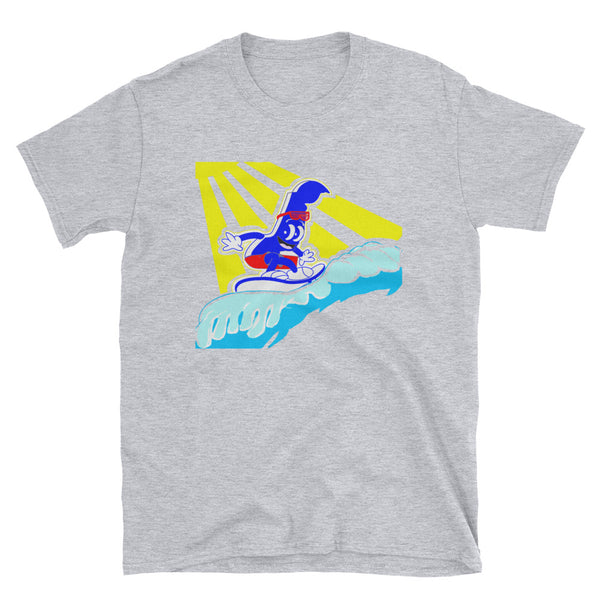 DelaDude Surf - Short-Sleeve Unisex T-Shirt