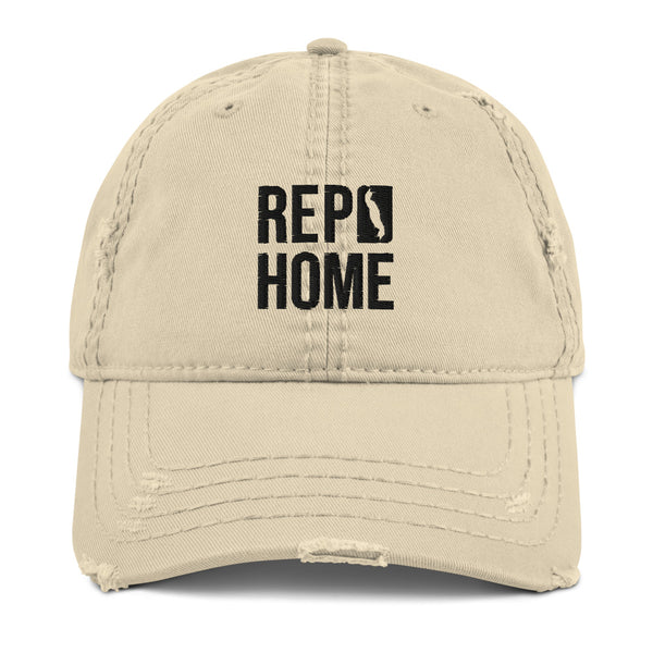 Rep Home Distressed Dad Hat