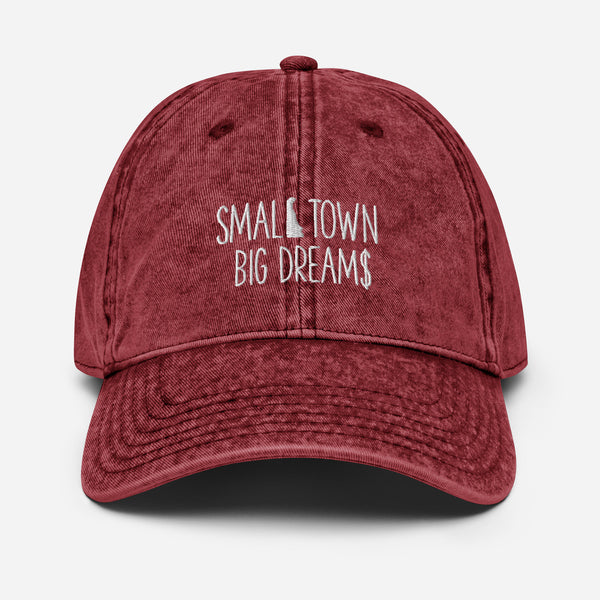 Small Town Big Dream$ - Vintage Cotton Twill Cap