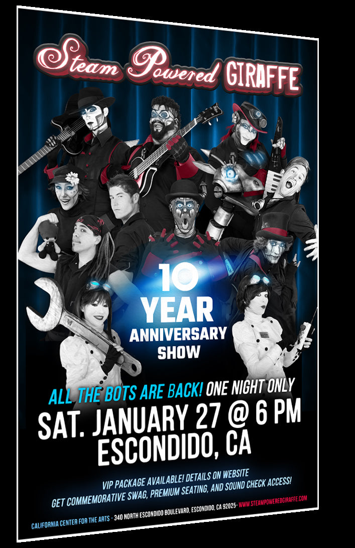 10 Year Anniversary Show Poster (11'' x 17'')