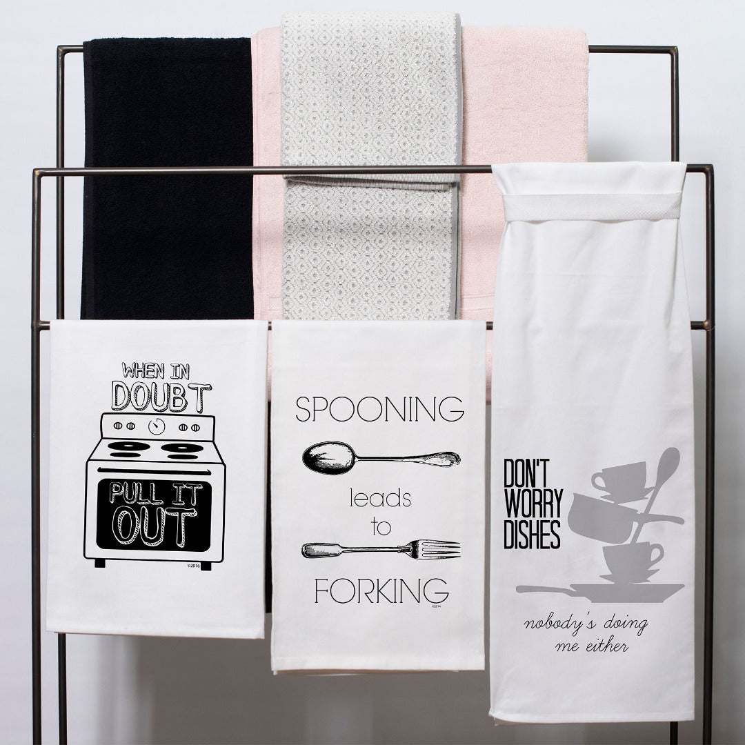 When in Doubt Pull It Out Flour Sack Hang Tight Towel®