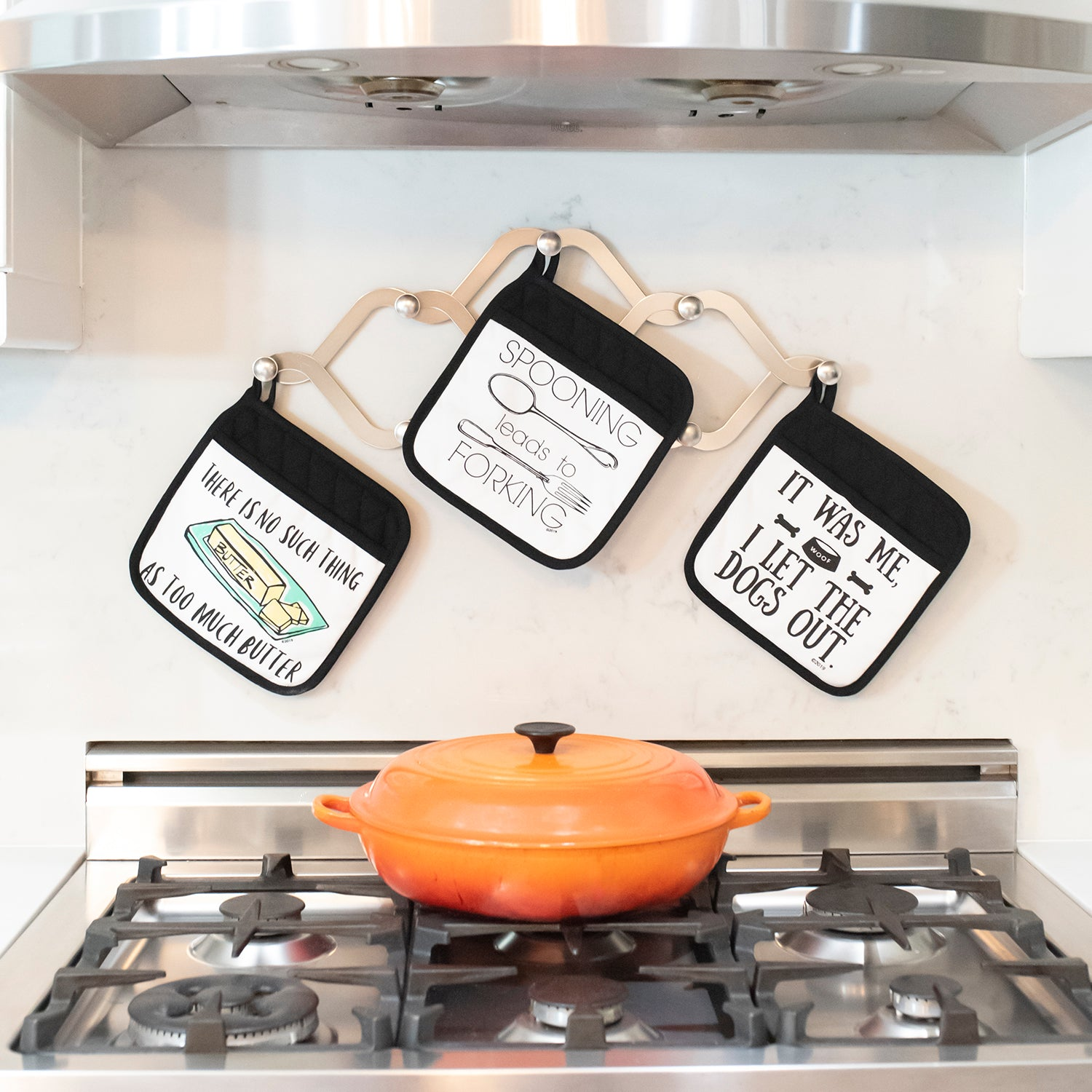 Funny Kitchen Potholders By Twisted Wares Not Enough Butter Potholder