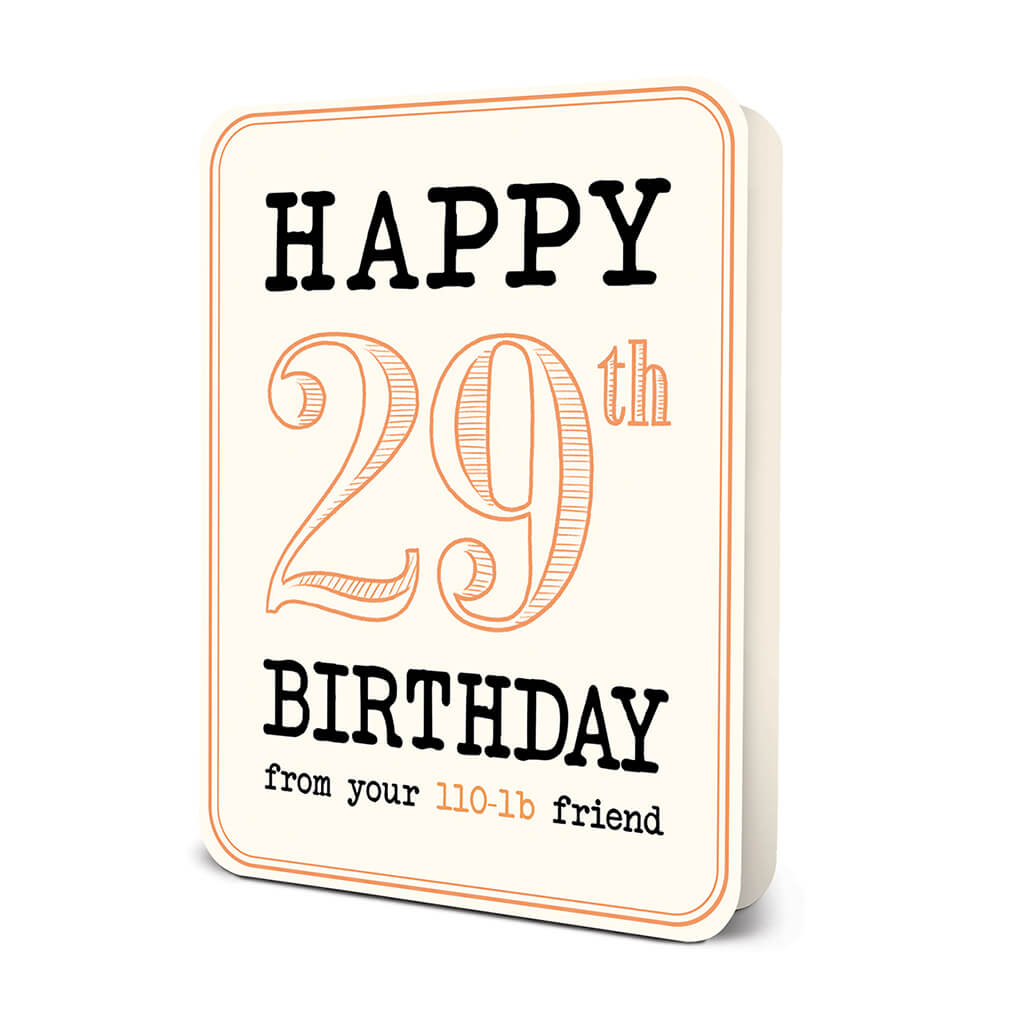 """Happy 29th Birthday"" Deluxe Greeting Card"