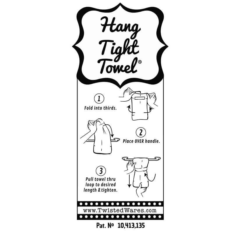 Fuckity Black Flour Sack Hang Tight Towel®
