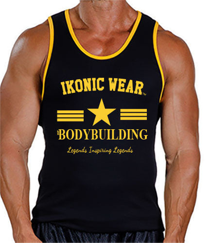 CLASSIC BODYBUILDING TANK TOP - GOLD PRINT