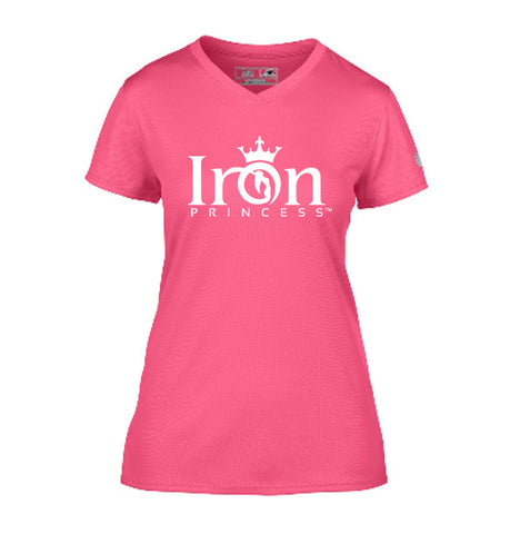 IRON PRINCESS PERFORMANCE TSHIRT - PINK