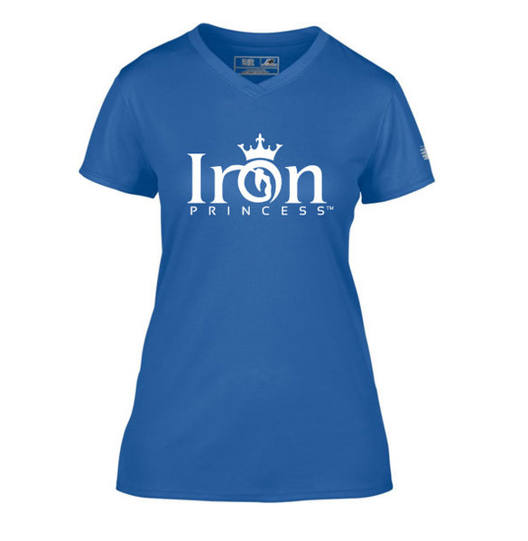 IRON PRINCESS PERFORMANCE TSHIRT - ROYAL BLUE