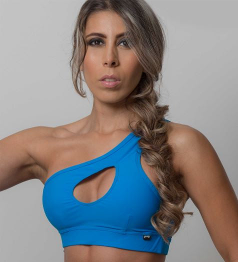 ONE SHOULDER SPORTS BRA - Style SB105 (Various Colours)