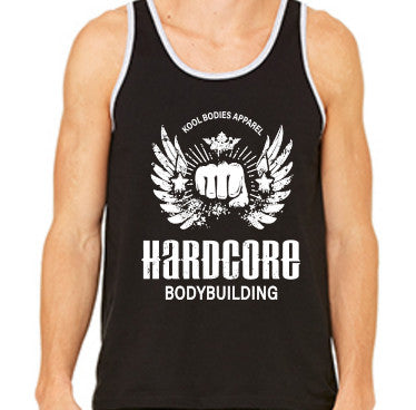 HARDCORE GRAPHIC JERSEY TANK   BLACK/WHITE