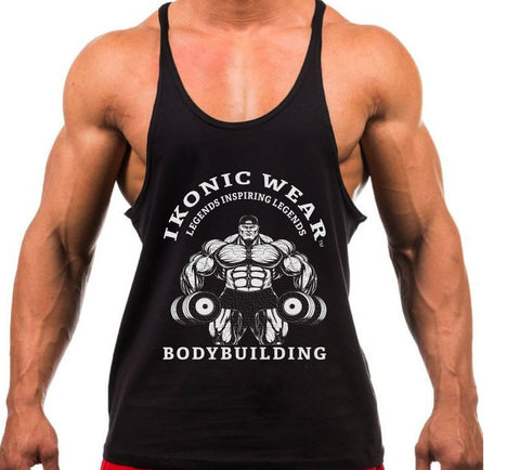 CLASSIC BODYBUILDING STRINGER TANK - BLACK