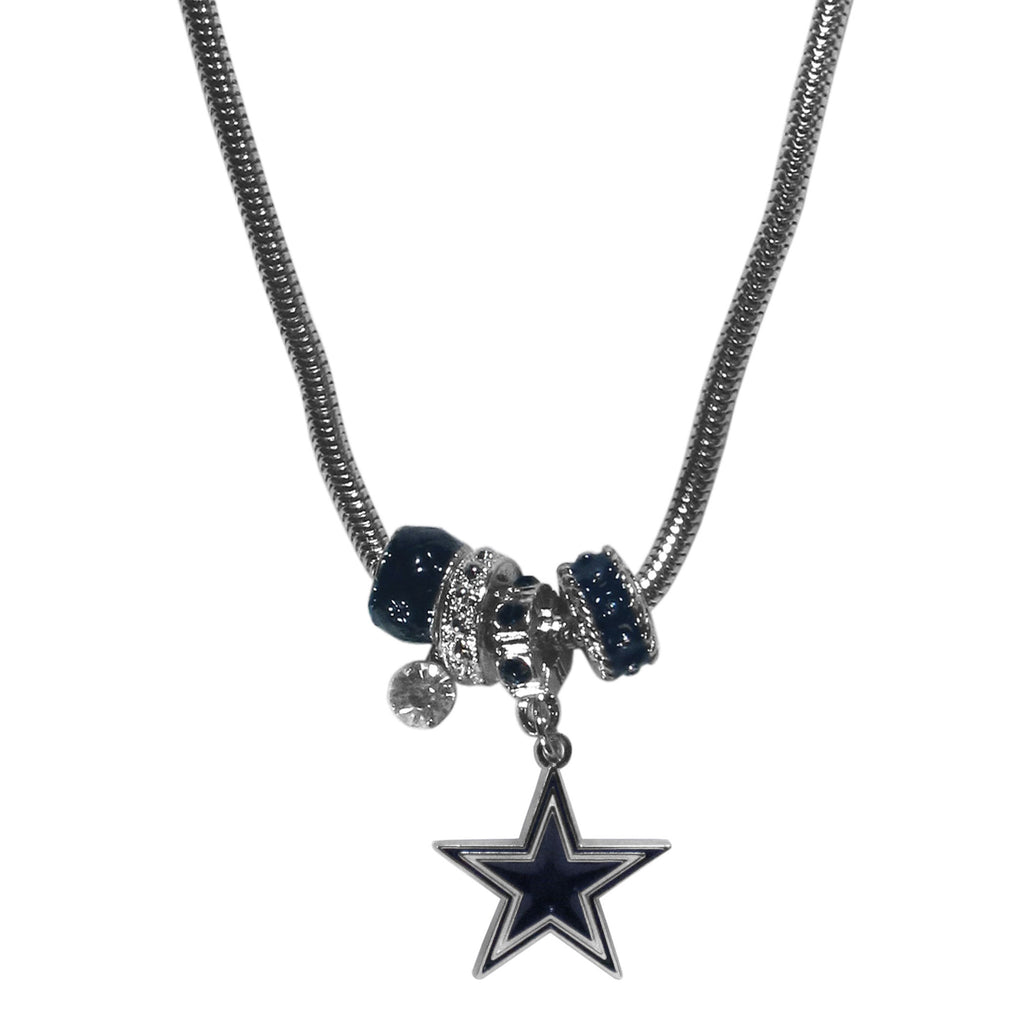 Dallas cowboys bead necklace cowboythangs dallas cowboys bead necklace aloadofball