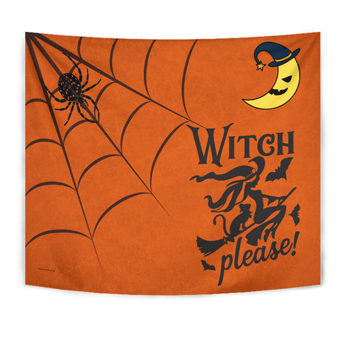 Witch Please - Halloween Wall Tapestry - FREE SHIPPING