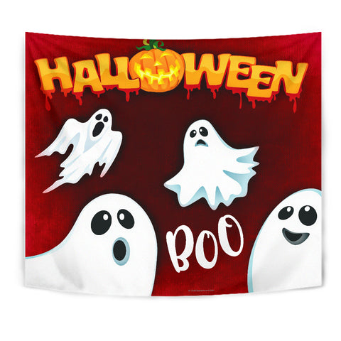 Boo - Halloween Wall Tapestry - FREE SHIPPING