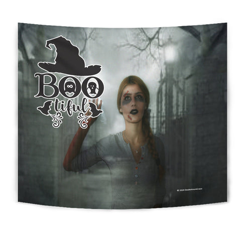 Bootiful - Halloween Wall Tapestry - FREE SHIPPING