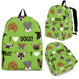 I Love Dogs Backpack (Richmond SPCA Green) - FREE SHIPPING