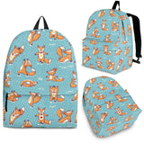 Yoga Foxes Backpack (Light Blue) - FREE SHIPPING