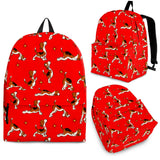 Yoga Dogs Backpack (Red) - FREE SHIPPING