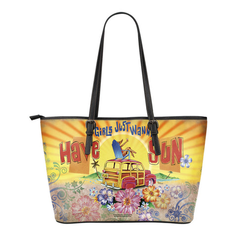 Jim Mazzotta Signature Line - Girls Want Sun - Small Leather Tote Bag!